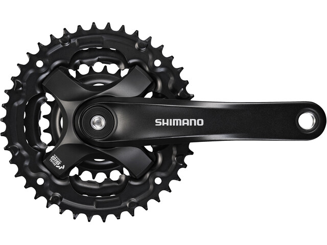 Shimano FC-TY501 Krank 6/7/8-speed 48-38-28 tænder, black